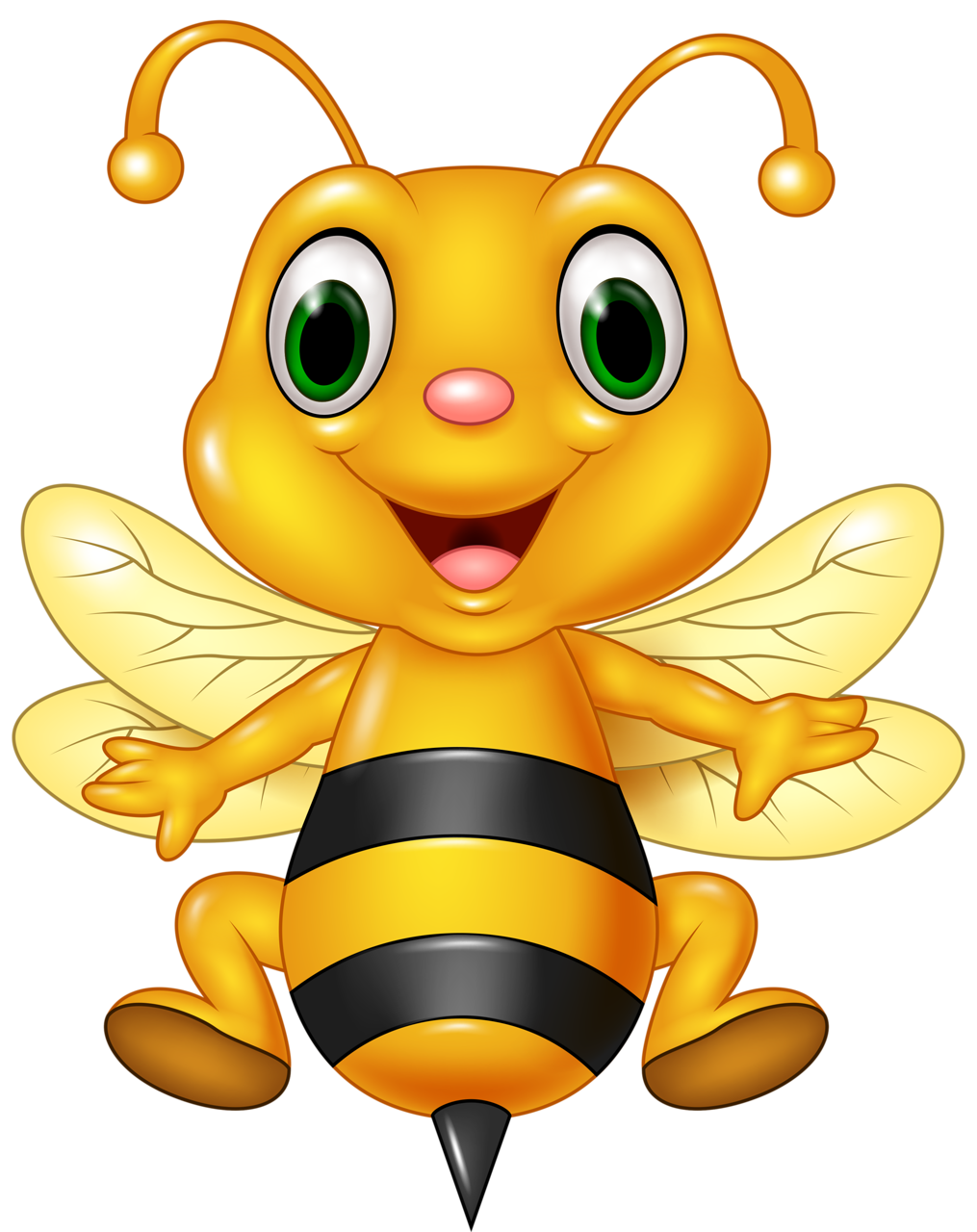 Heart clipart bee. Funny cartoon animals vector