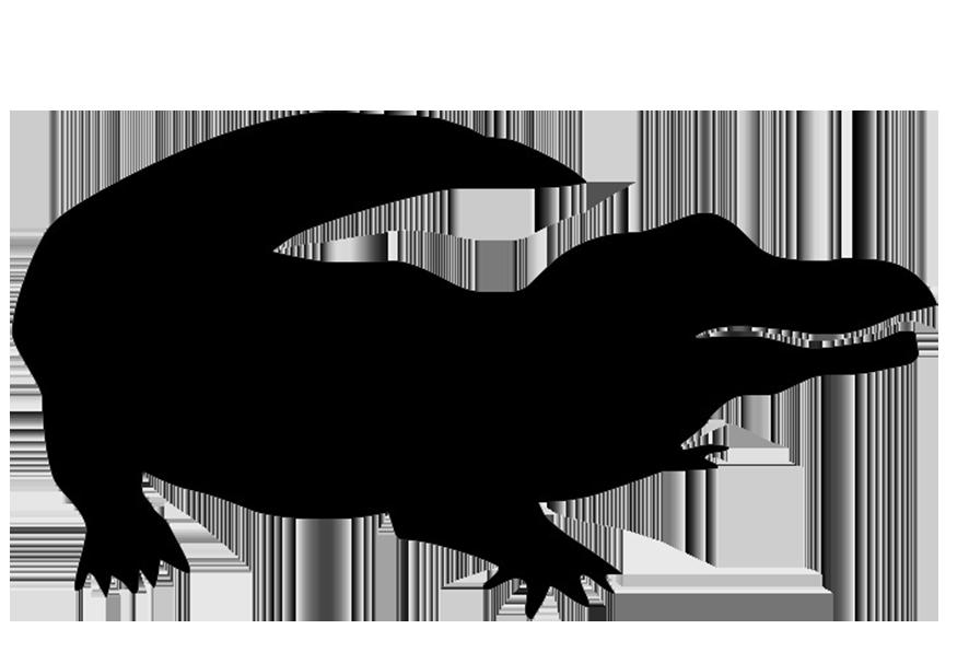 Gator clipart silhouette. Crocodile head panda free