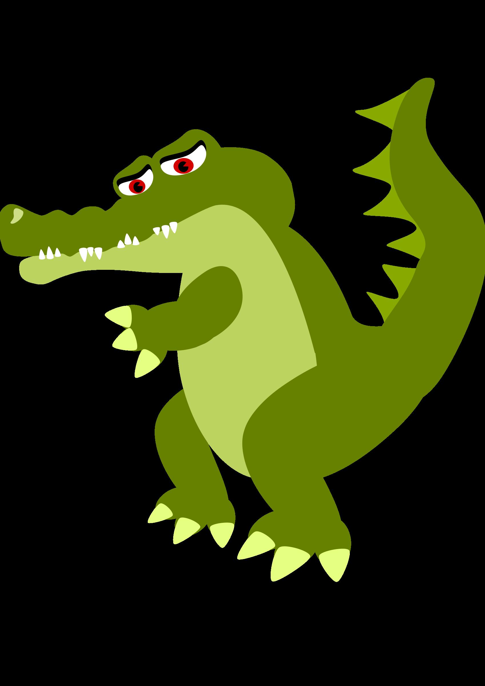 sad clipart alligator