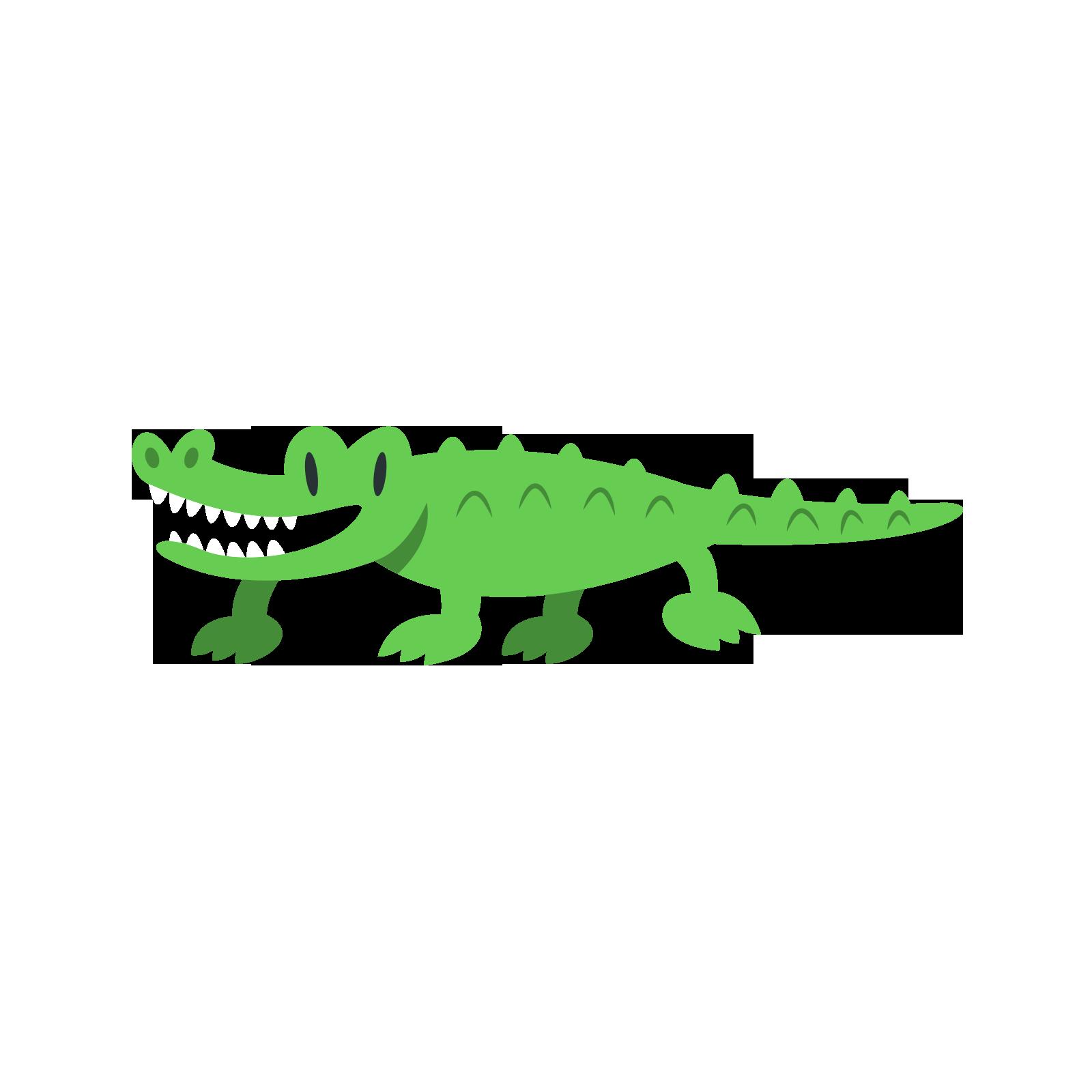 Crocodiles cartoon animal clip. Pear clipart crocodile