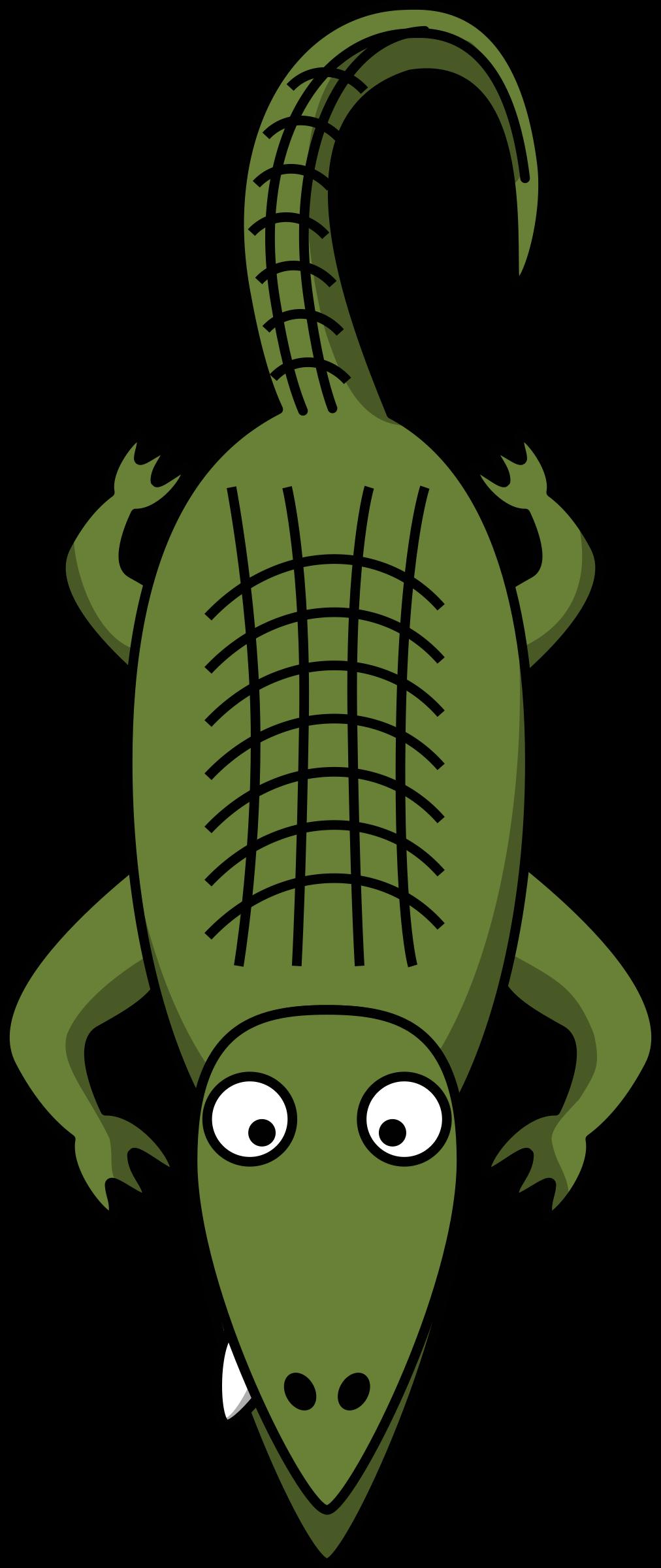 Crocodile clipart toon. Cartoon alligator big image