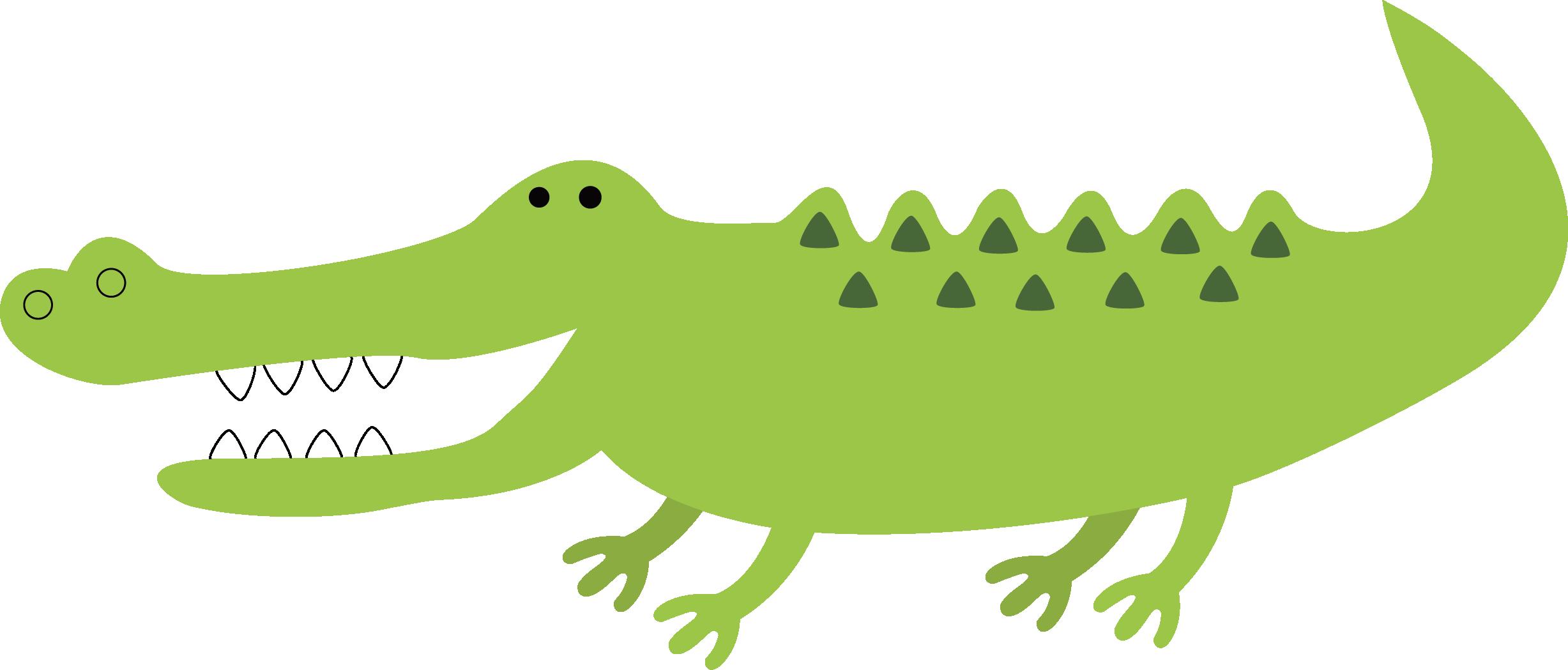 Pear clipart crocodile. Alligator green jaw vector