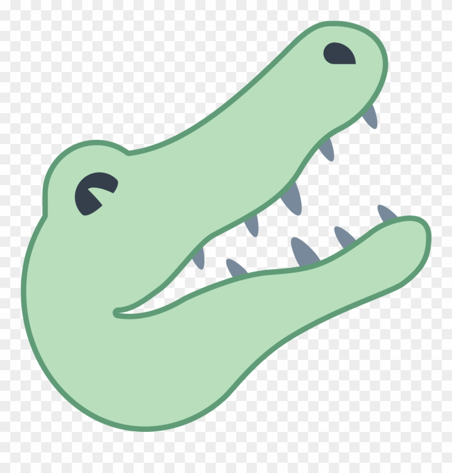 A drawing of alligator. Crocodile clipart simple