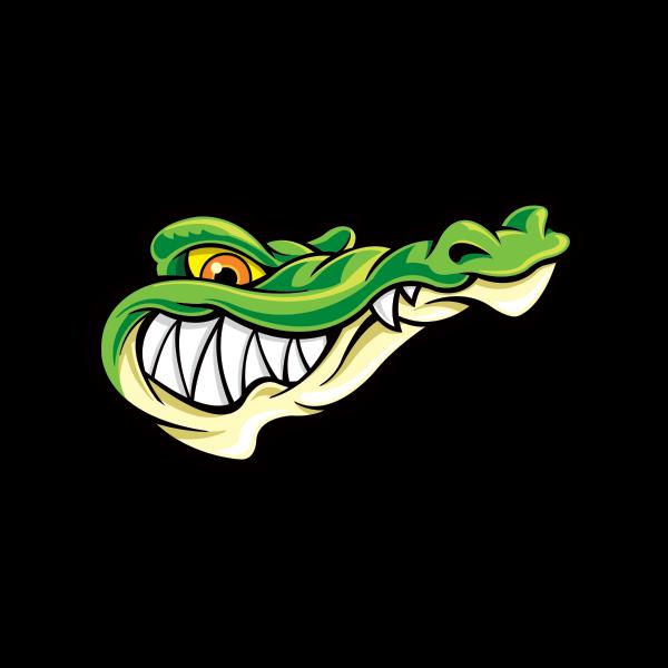 Cobra clipart vinyl decal. Printed gator alligator head