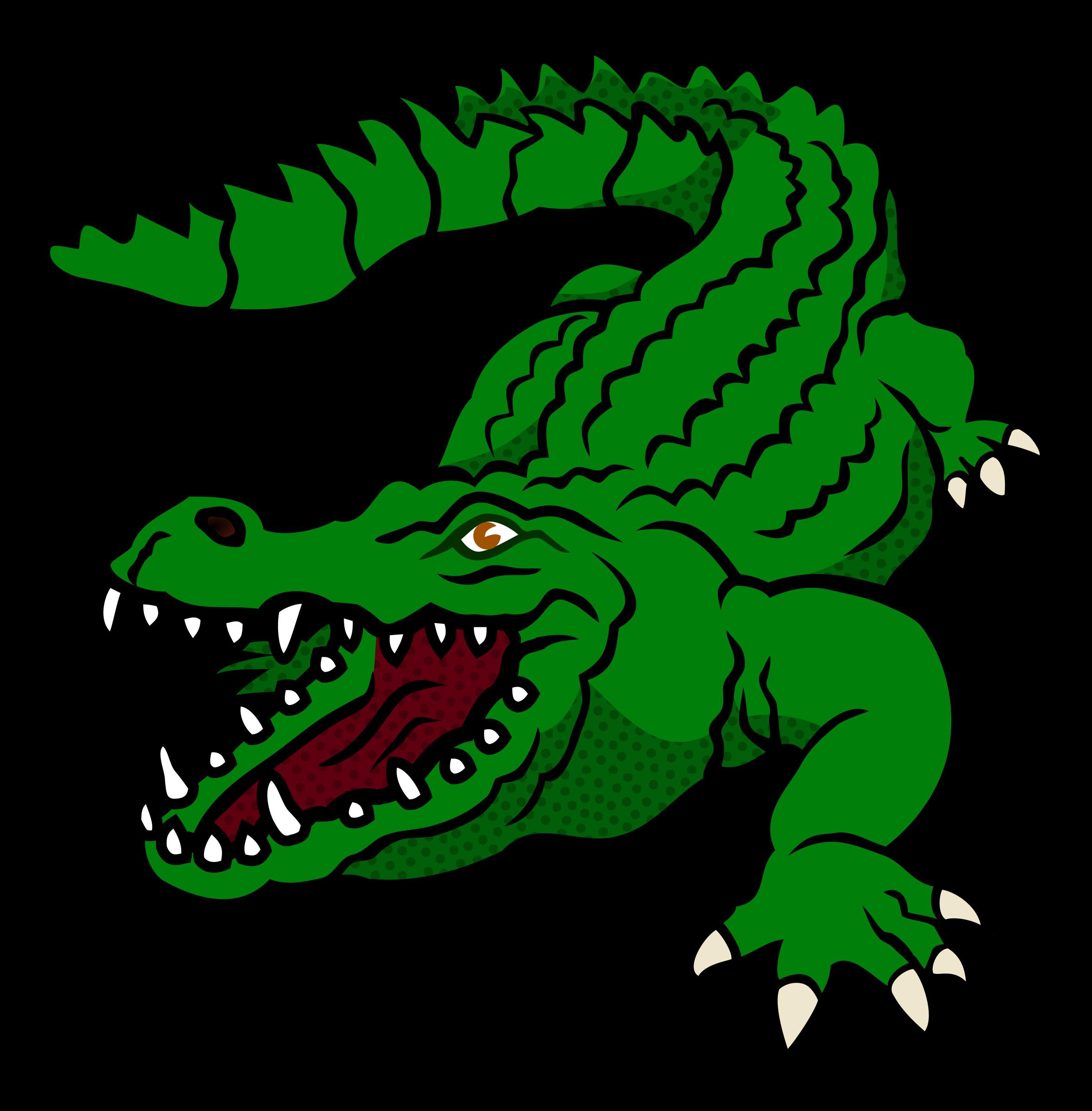 Cake design graphics illustrations. Alligator clipart animated
