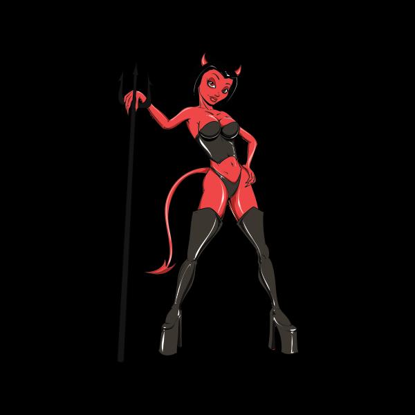 Mouth clipart evil. Printed vinyl sexy devil
