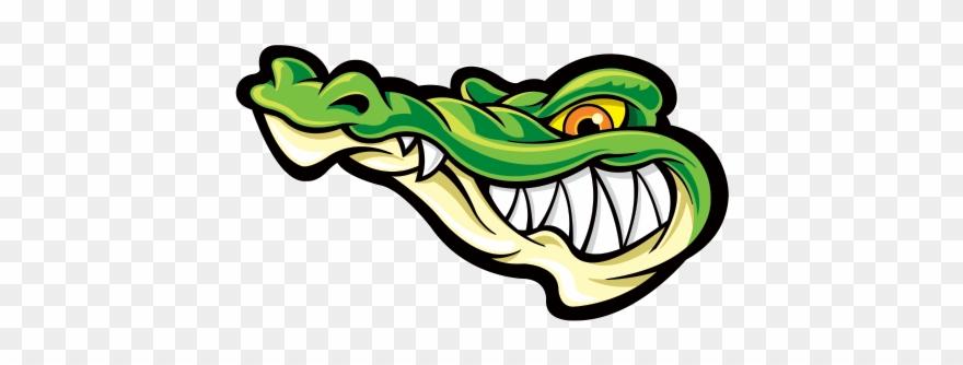 Printed vinyl gator alligator. Crocodile clipart bad