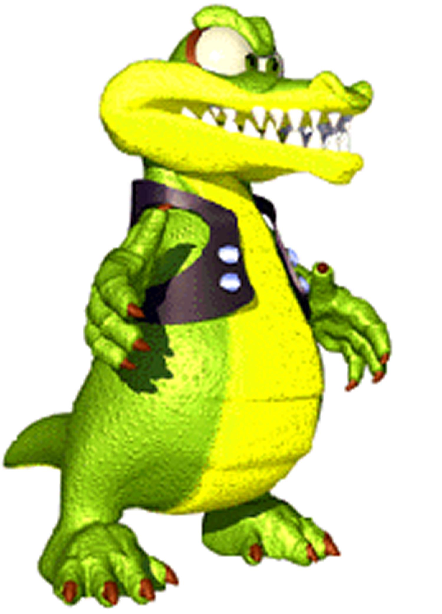Krunch the kremling nintendo. Crocodile clipart editorial cartooning