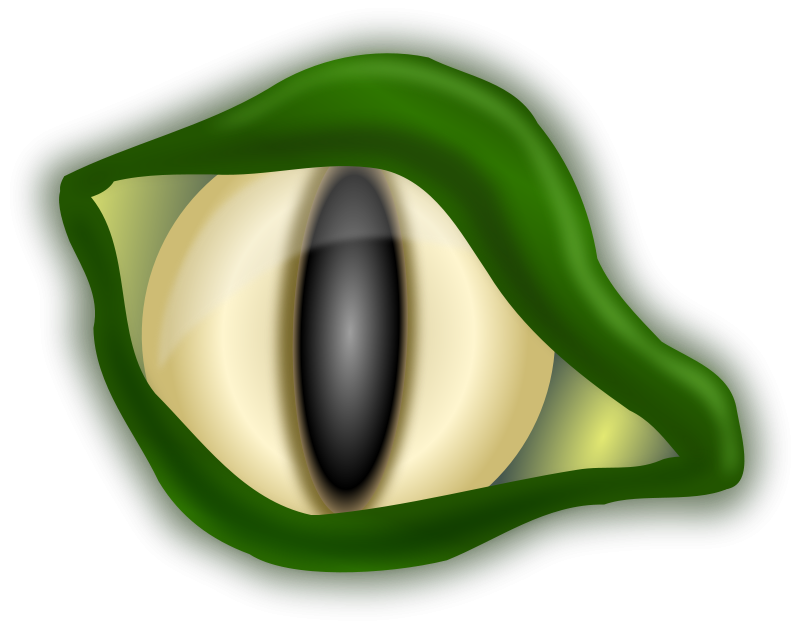 eye clipart alligator