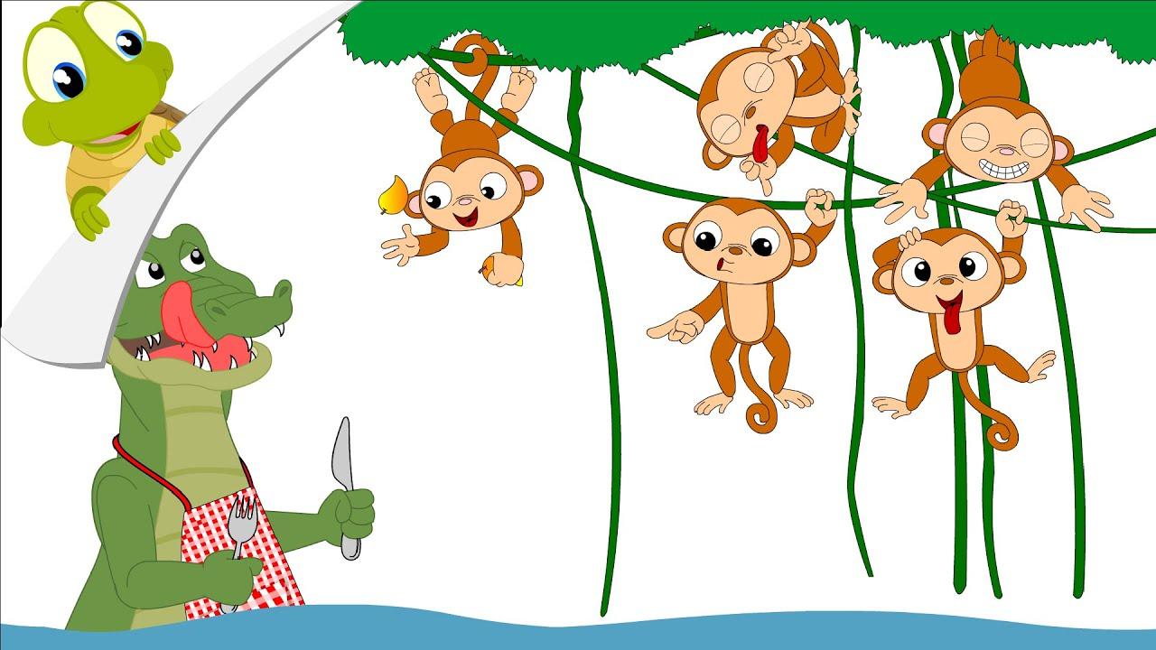 Clipart Alligator Five Little Monkeys Clipart Alligator
