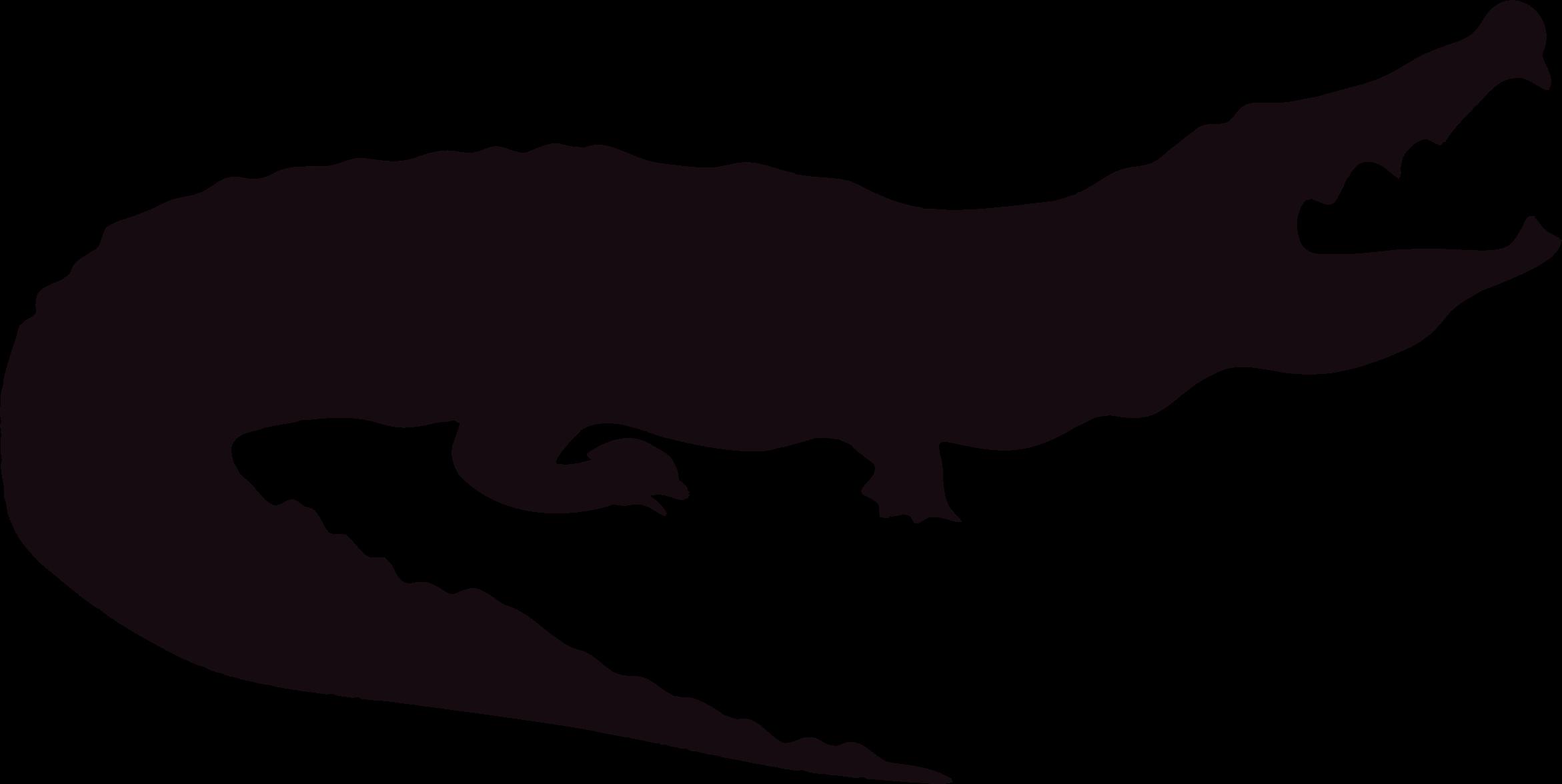 Clipart hippo crocodile. Alligator silhouette big image