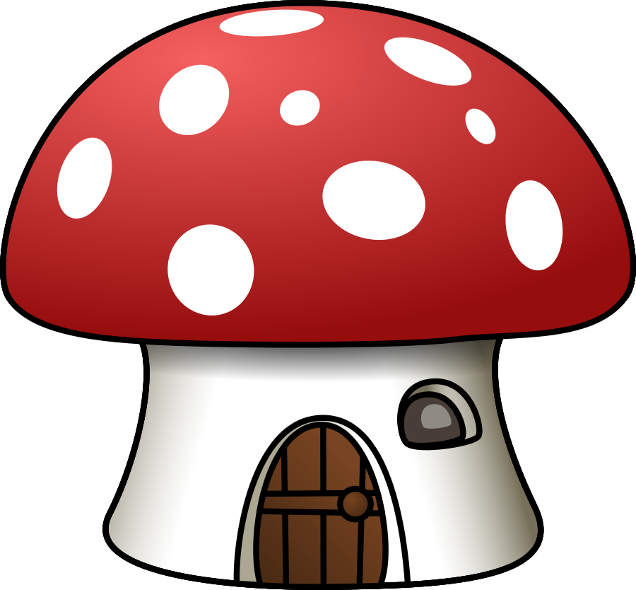 Planet clipart teacher. Mushroom house vector clip