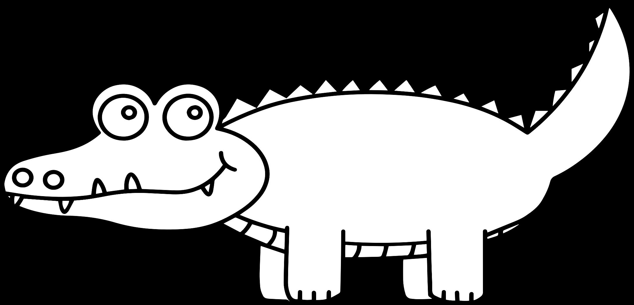Stamp clipart animated. Cartoon alligator digi big