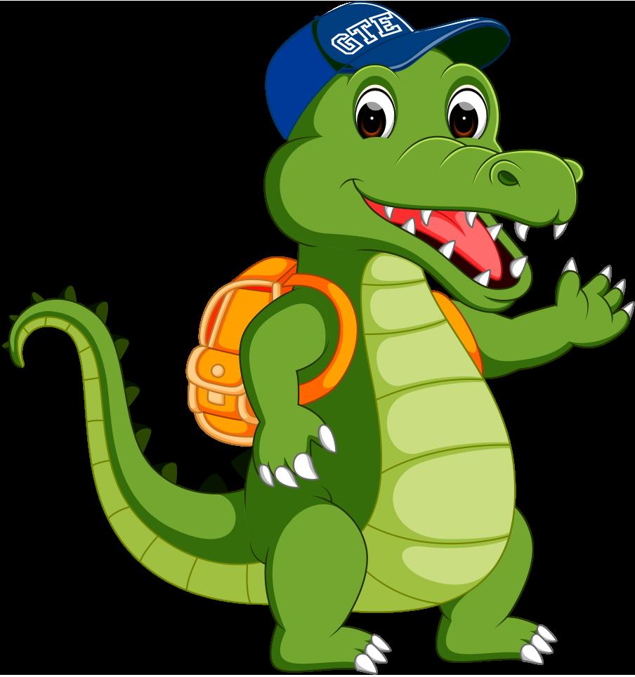 Crocodile clipart alligator mascot. Brand elementary greentree