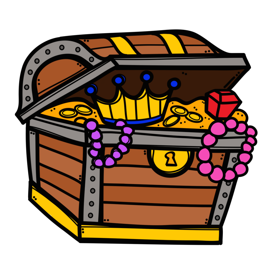 Treasure chest open x. Graph clipart preschool