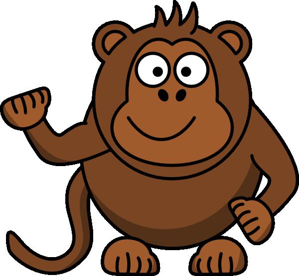 Footprint clipart monkey. Cartoon at getdrawings com