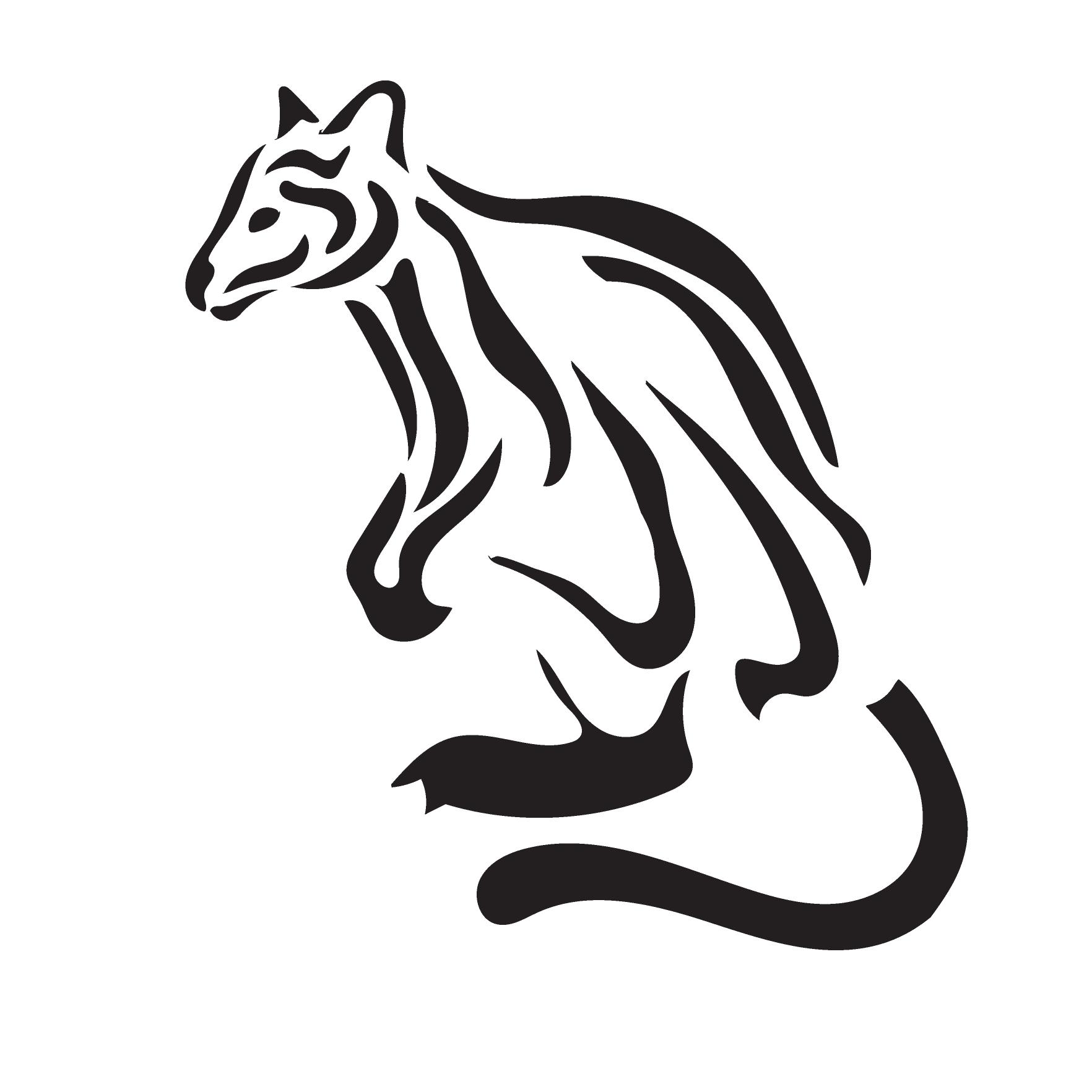 Endangered animals jose diaz. Kangaroo clipart stencil
