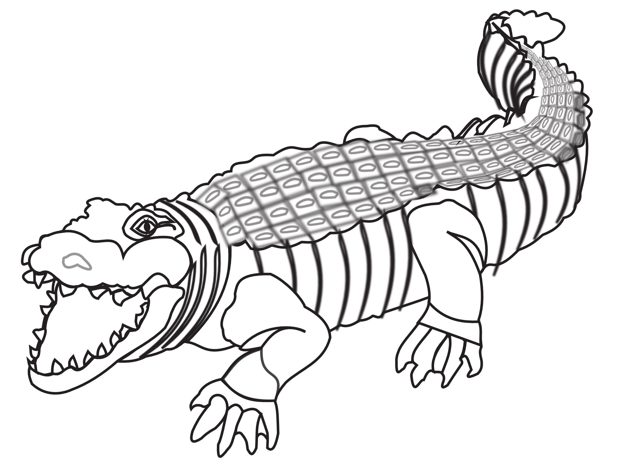 Coloring clipart crocodile. Png black and white