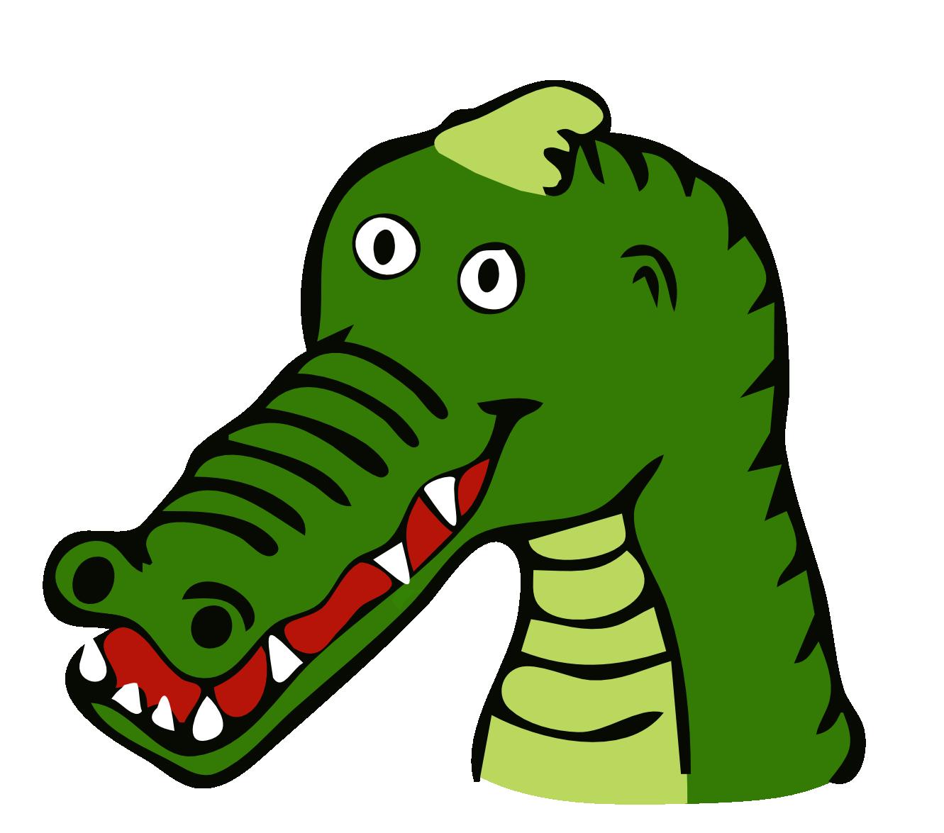 Crocodile clip art for. Girls clipart alligator
