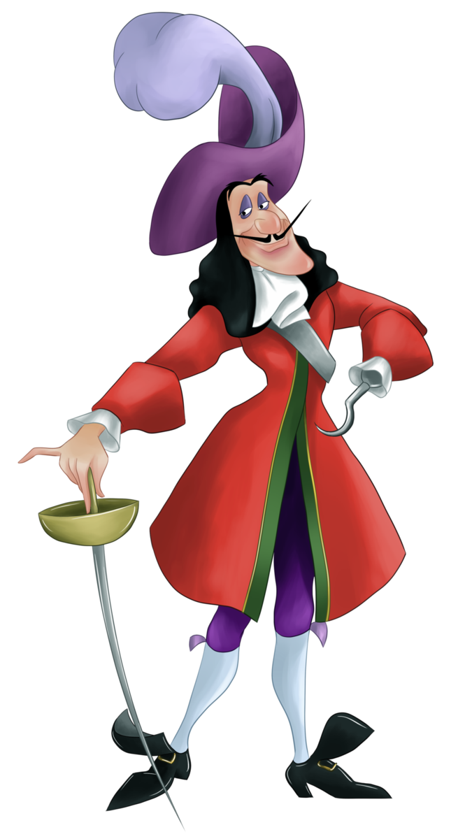 Peter pan captain hook. Maid clipart room attendant