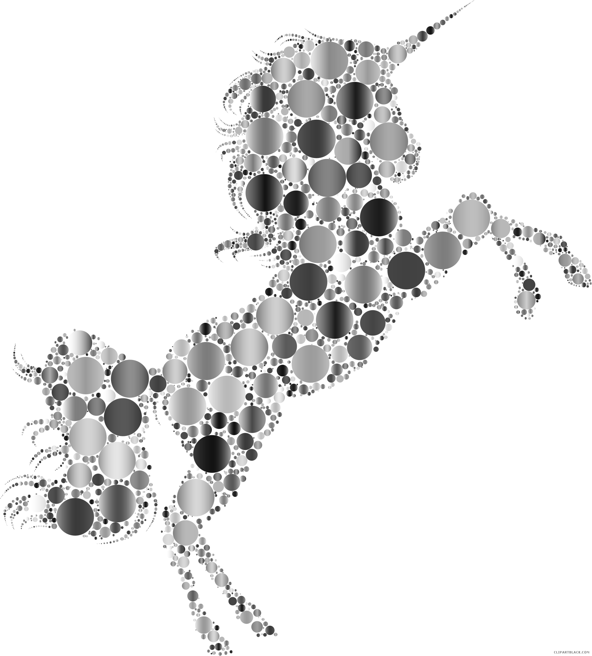 Prismatic unicorn animal free. Funeral clipart silhouette