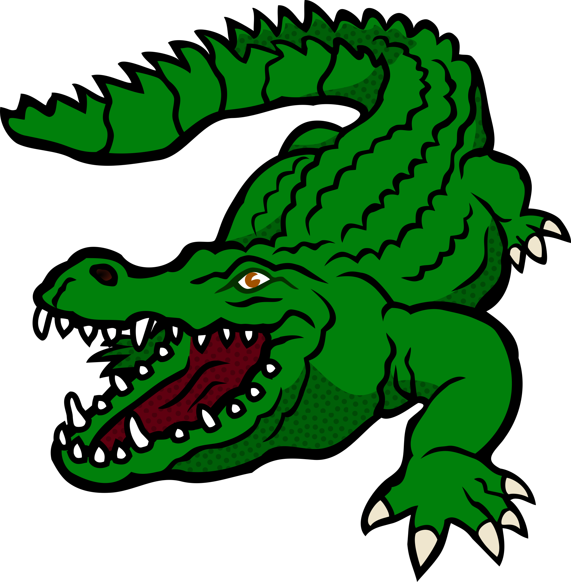 Coloring clipart crocodile. Coloured swim team pinterest