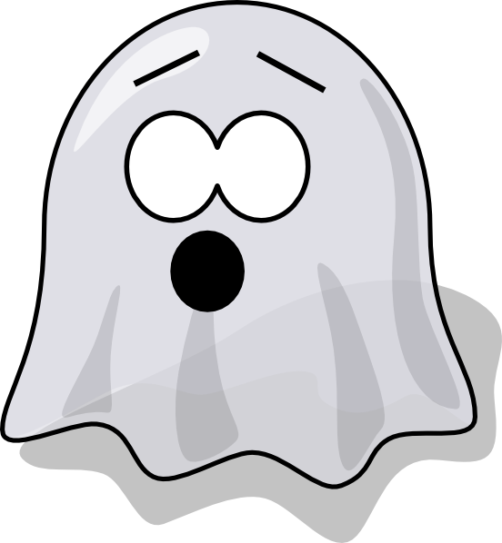 Scared clip art at. Clipart png ghost