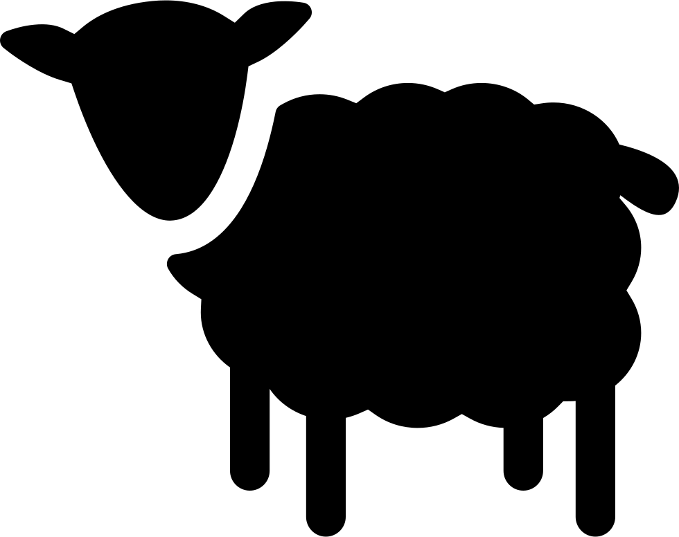 Lamb clipart silhouette. Sheep svg png icon