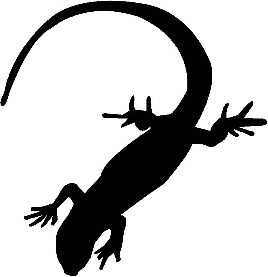 Gift clipart silhouette. Lizard clip art at