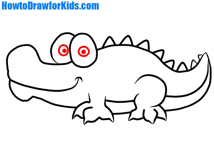Crocodile clipart simple. How to draw for