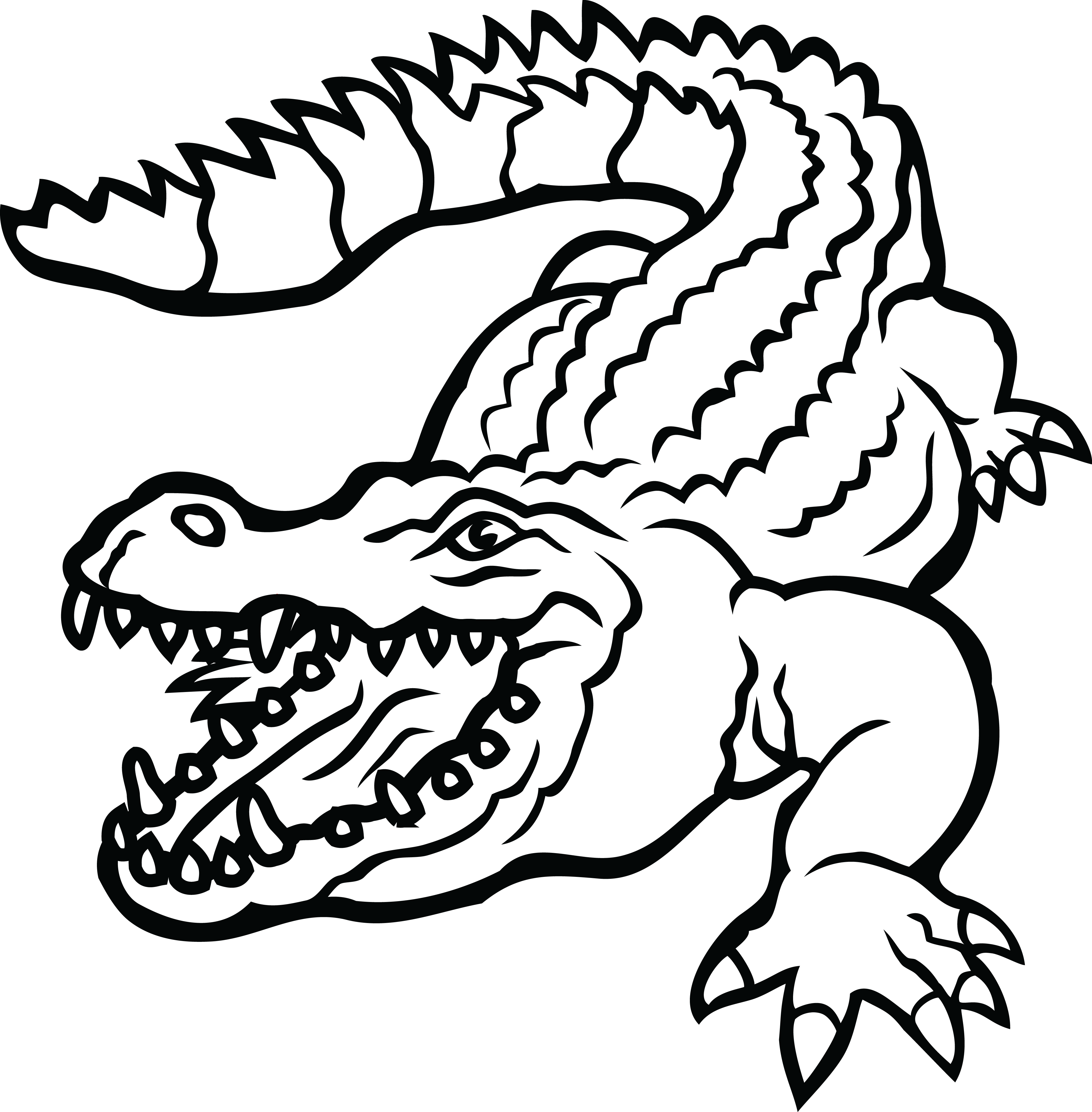 collection of black. Crocodile clipart toon