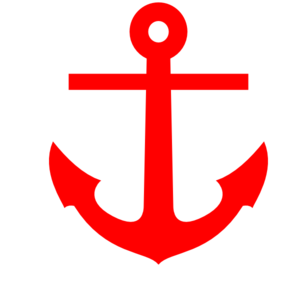 Clipart anchor. Red clip art at