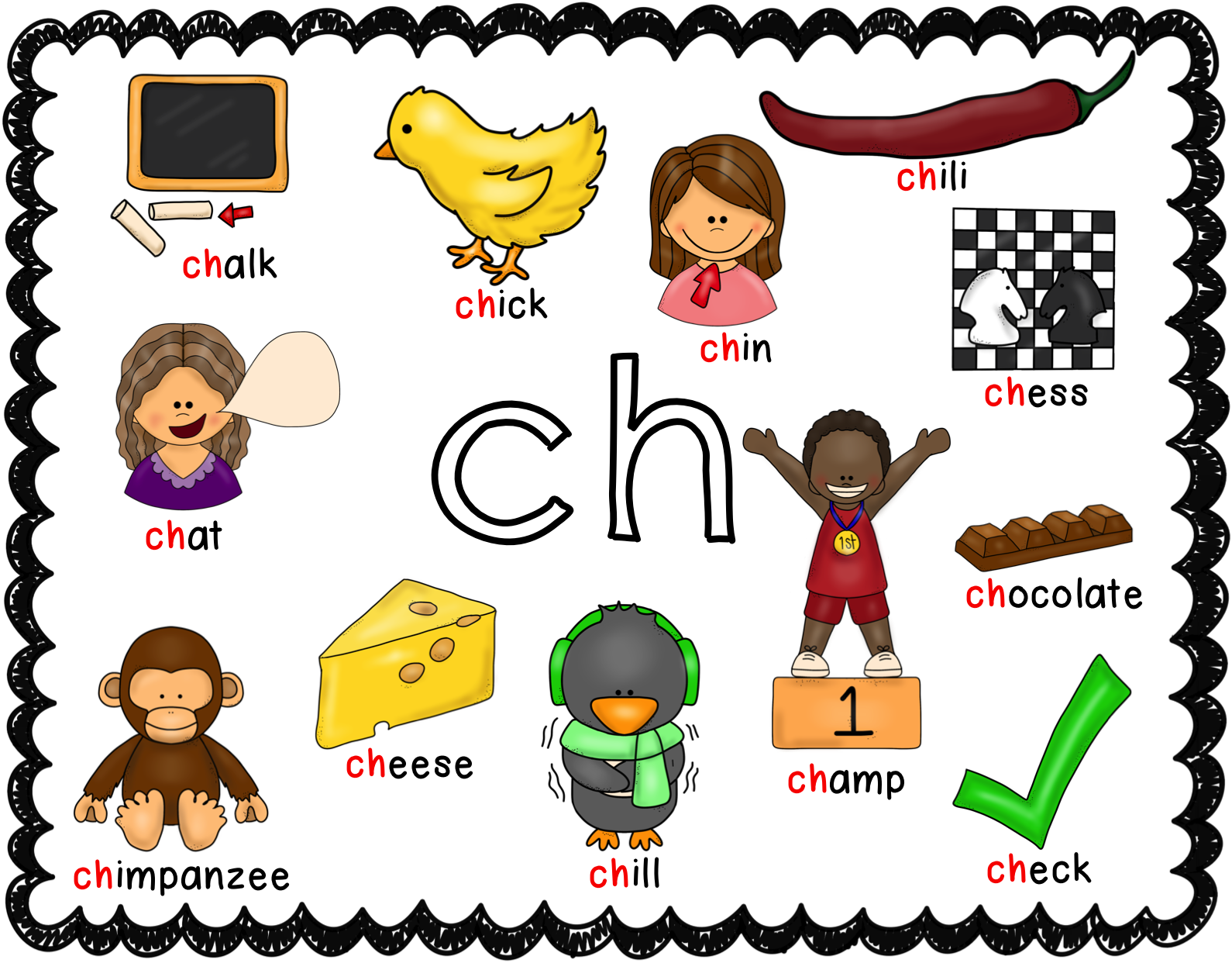 Digraph posters ch ck. Clipart anchor anchor chart