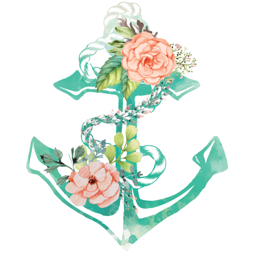 Clipart anchor aqua. Flowers and by aewin