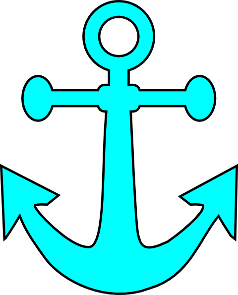 Images of anchors free. Clipart anchor aqua