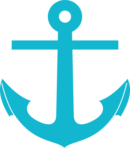 . Clipart anchor aqua