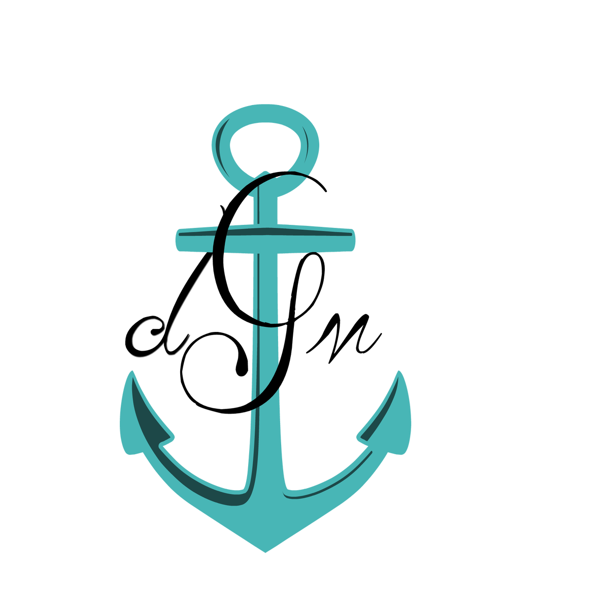 Clipart anchor aqua. Dmg monogram doc laura
