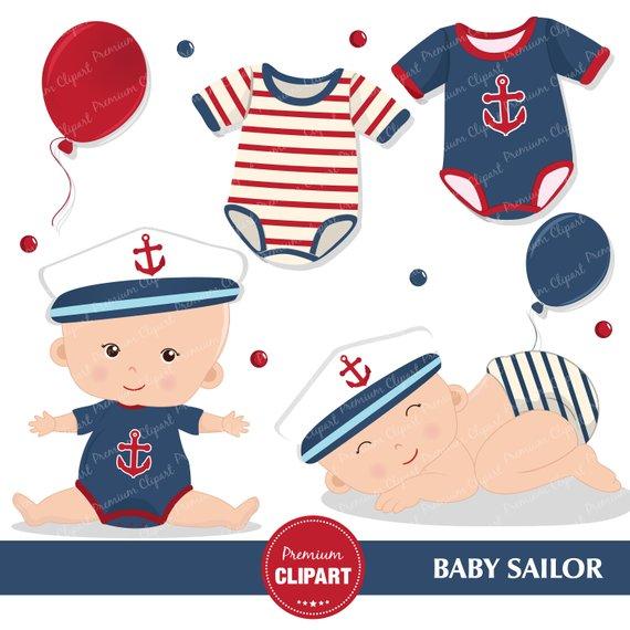 Sailor sailing . Nautical clipart nautical baby shower