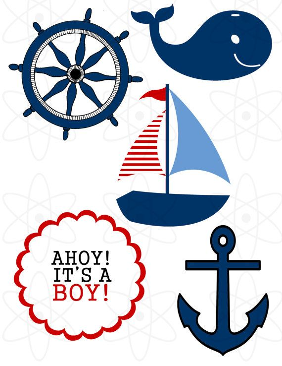Nautical clipart nautical baby shower. Theme by atomdesign on