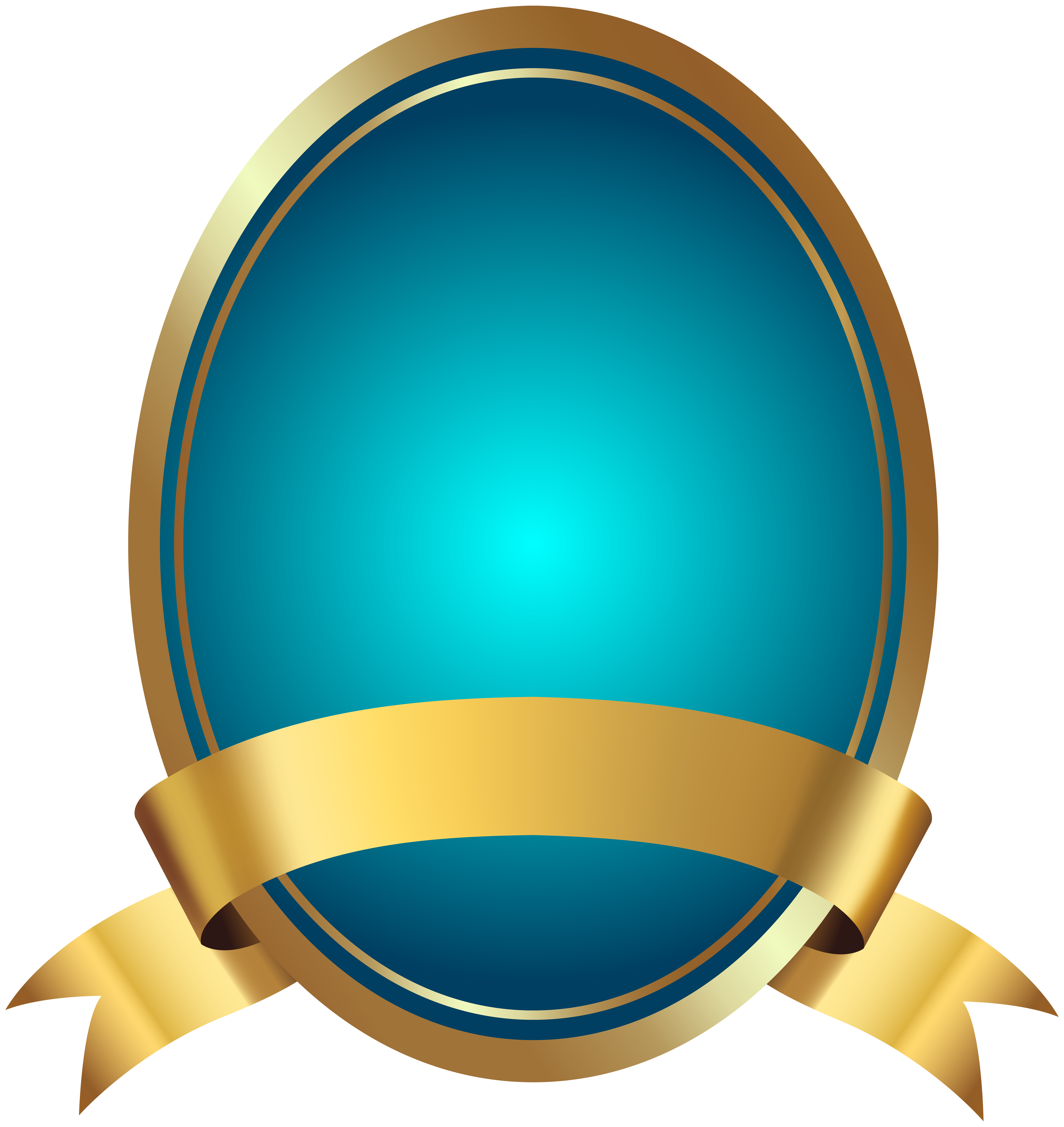 Blue label with png. Clipart anchor banner