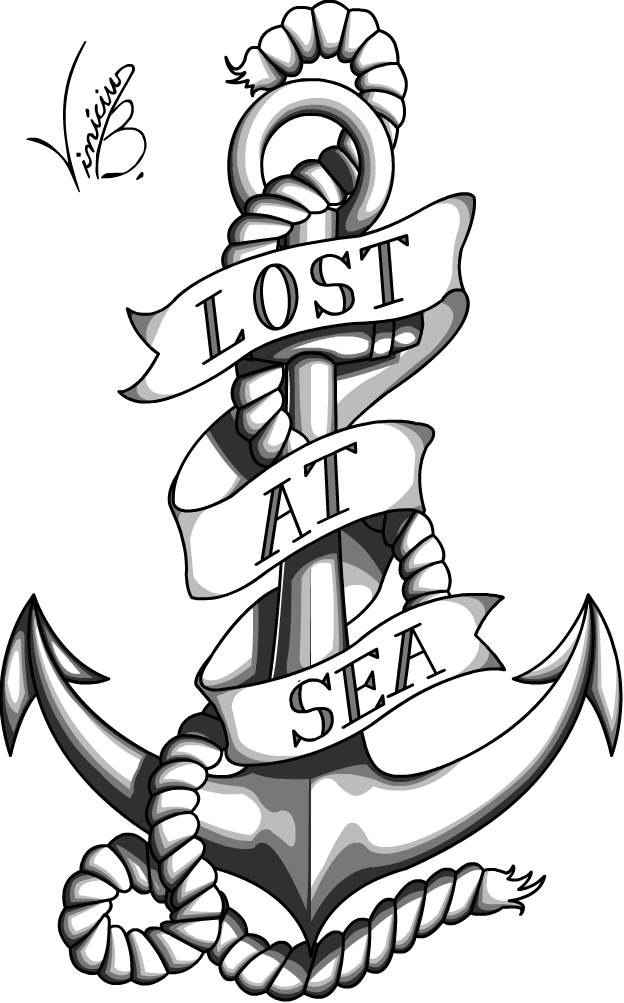 Reading for tattoo by. Clipart anchor banner