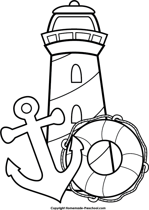 lighthouse coloring sheets