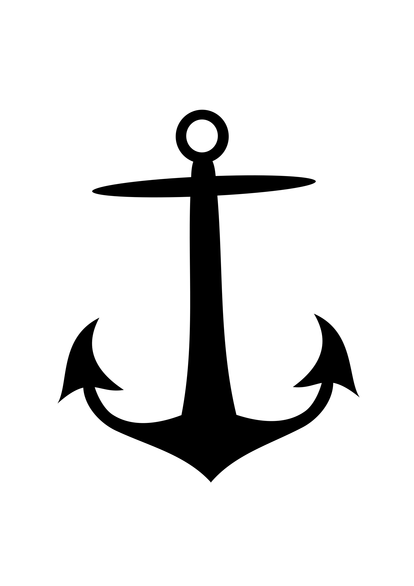 Clipart anchor black and white.
