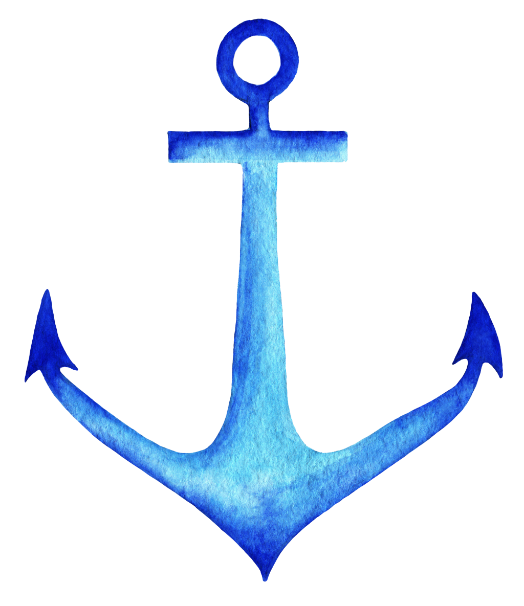 Ink transprent png free. Clipart anchor blue anchor