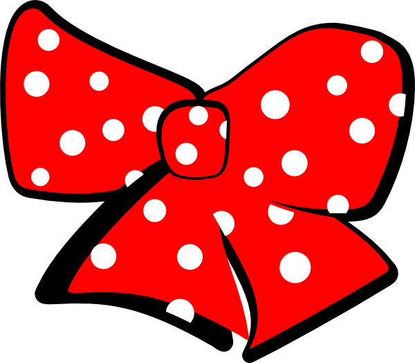Minnie mouse hair clip. Clipart anchor bow clipart