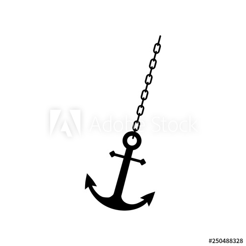 Clipart anchor chain clipart. Ship or boat flat