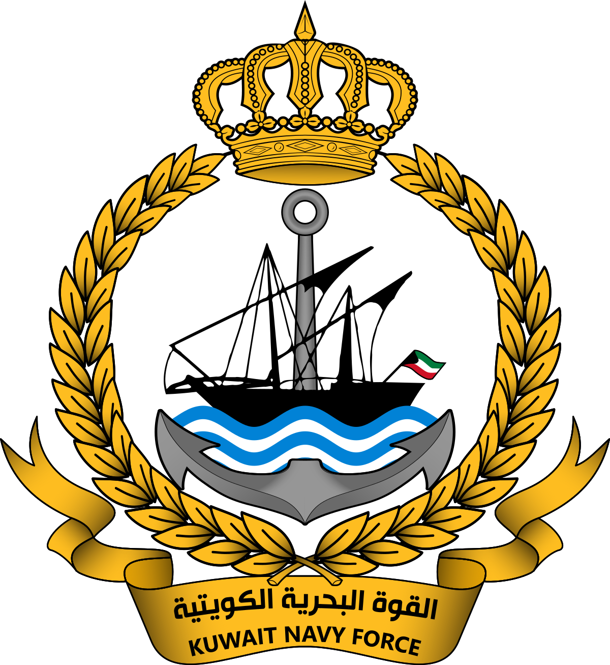 Clipart anchor chief navy. Kuwait naval force wikipedia