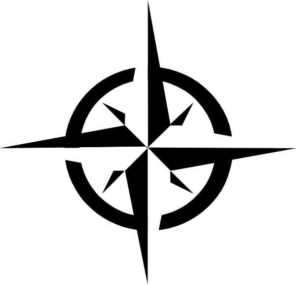 White compass rose clip. Vision clipart vector
