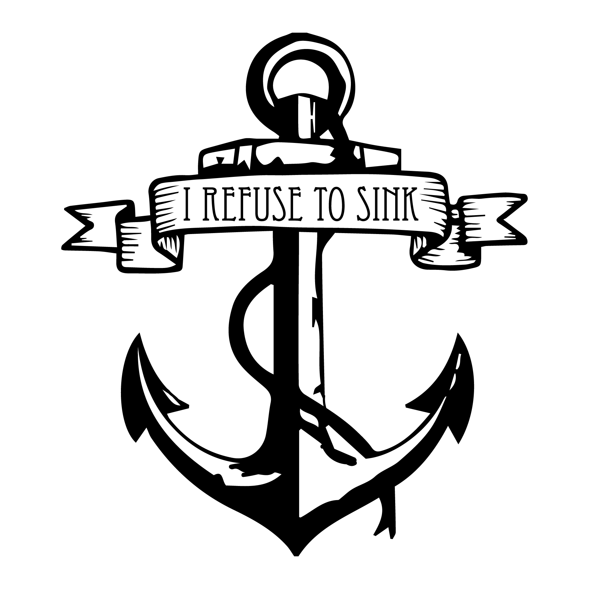 Clipart anchor decal. I refuse to sink