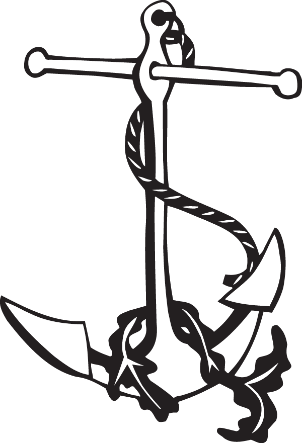 Clipart anchor decal.